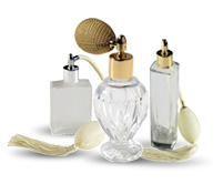 Vintage Style Refillable Bulb Spray Glass bottles