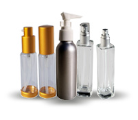 Glass Bottles with Lotion and Treatment Pumps