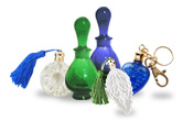 Small Blue, Green and Clear Decorative Perfume Glass Bottles