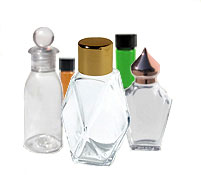 Perfume Glass vials and Glass Bottles or Containers